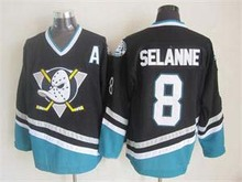 Mighty Ducks Jersey 8 Selanne 13 Selanne 9 Kariya 35 Giguere Stitched Movie Throwback Hockey Jerseys S-3XL Free Shipping(China)