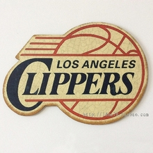 LOS ANGELES CLIPPERS NBA Western Conference Team Logo Retro decorative plate Poster Wall Chart Basketball Decor Wall Sticker