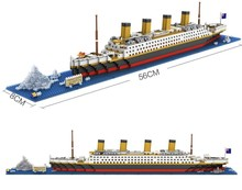 Hot Titanic Ship 1860PCS Building Blocks Toy Titanic Boat 3D Model Educational Gift Toy for Children Compatible With Legoingly(China)