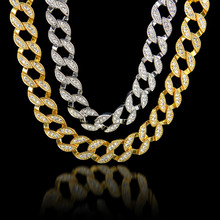 MCSAYS Fashion Men's Chain Necklace Golden Full CZ DiamondIced Out Chain Mens 30''  Bling Bling Hip Hop Jewelry Necklace Chain