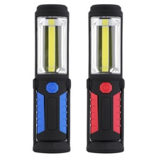 ICOCO 1 LED 1 COB Outdoor Fishing Light Magnetic Work Hand Lamp Emergency Torch