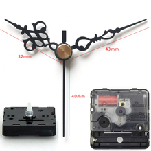 Rhythm Plastic quartz clock movement Silent Movement sweep mechanism with 61# Black short hands DIY Clock Accessory Kits(China)