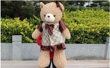 Free shipping 65cm teddy bear plush toy Large brown skirt bears doll