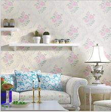 Modern 3D embossed flower wallpaper living room floral wallpapers wallcovering textile wall paper pink rollos de papel de pared