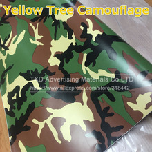 10/20/30/40/50/60x152CM/Lot Yellow Camo Vinyl Wrap styling Air Free / Camouflage Car Sticker Film Truck covers by free shipping(China)