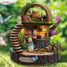 Diy Fantasy forest music box rotating girl birthday boutique gift girls child for new year wedding Christmas free shipping