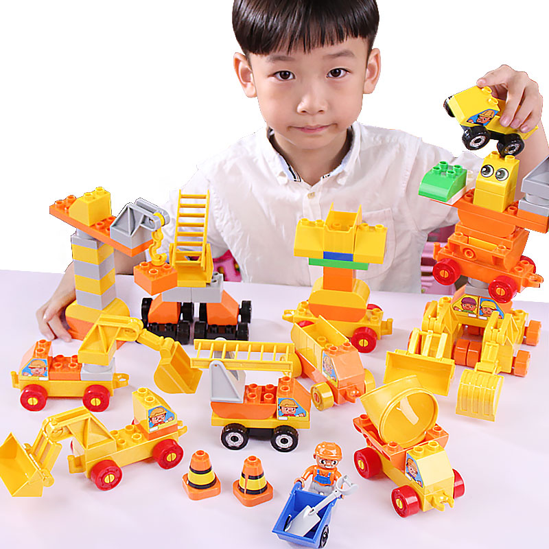 Boys Girls Baby Toys Firefighting &amp; Engineering Big Brick Compatible With Big Blocks Building Blocks Educational Toys For Kids<br><br>Aliexpress