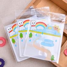 100Pcs Cute Sunny Doll Cookie and Candy Packing Bag,Self-adhesive Plastic Bags,Baking Package Bags,Small Jewelry Packaging Bags
