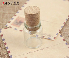 JASTER Glass drift bottle with Cork USB Flash Drive (Transparent) pendrive 4GB 8GB 16GB 32GB Fashion current bottle gift HOT