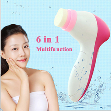 6 in 1 Electric Wash Face Machine Facial Pore Cleaner Body Cleaning Massage Skin Beauty Massager Replaceable Head Brush C805