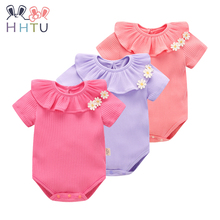 HHTU 2017 Newborn Baby Clothing Cotton Baby Rompers Spring Summer Clothes Girl Short Romper Jumpsuit Baby Clothes