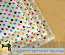 4pcs multi color Polka Dot LOVELY Cotton Patchwork fabric home Textiles Cotton Poplin for sewing 100% cotton fabric material