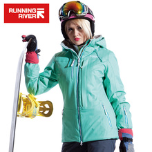 RUNNING RIVER Women Snow Winter Ski Jacket Waterproof Windproof Warm Skiing Jackets Snow Winter Outdoor Sport Coat #A4053(China)