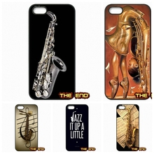 Wooden Alto Saxophone sax music Protective Phone Cover Case For iPhone 4 4S 5 5C SE 6 6S 7 Plus Galaxy J5 A5 A3 S5 S7 S6 Edge