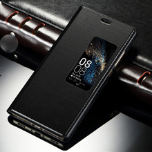 Original Style PU Leather Cover View Window Case For Huawei P10 /P10 Plus P9 Plus Mobile Phone Smart Flip Cases Mobile Phone Bag
