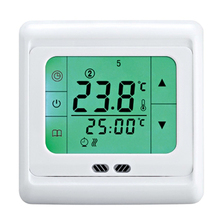16A Weekly Programmable Heating Thermostat With Touch Screen for Underfloor Heating System Green Backlight
