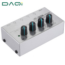 portable amplifier mini mixer audio line 1 input 4 output Audio stereo Amplifier Apply to all headphones 12V DJ Mixer