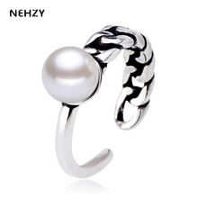 NEHZY Fashion popular female imitation pearl ring classic simple twist asymmetry silver color ring jewelry popular accessories