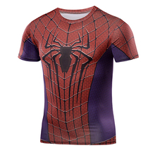 2016 Compression Shirt 3D Marvel Superhero Punisher Captain America Superman T Shirt Fitness Tights Base Layer Casual Shirts