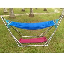 Red Bag Hammock Indoor Outdoor Net Bed Self Driving Tour Folding Swing Adjustable White Bracket Garden Outdoor Camping(China)