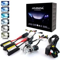 Ксеноновые H7 35 Вт AC 55 Вт тонкий балласт комплект HID ксеноновые лампы накаливания 12 В H1 H3 H11 h7 комплект ксенона 4300 К 6000 К заменить галогенные ла...