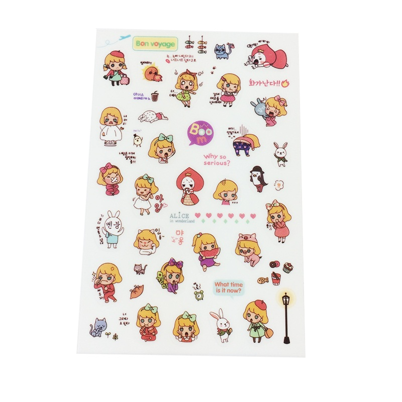 5b421a0d5c59 6 Sheet pack Book Sticker Girls Diary Scrapbook Calendar Notebook Label  Decoration Stationery Best Gift For Children - us439