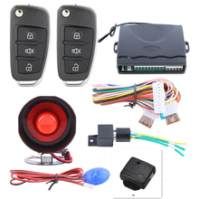Universal Car Alarm System Remote Central Locking with 2 Remote Control Keyless Auto Entry Closers Windows Car Engine Start Stop(China)