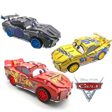Disney Pixar Cars 3 Kids DIY Toys Xmas Birthday Gifts McQueen Jackson Cruz Pull Back Car 3D Puzzle for Children Boy Go 20 Meters(China)