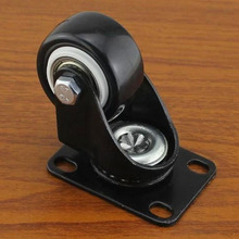 40mm Heavy swivel flat wheel steering ultra quiet furniture casters KF509(China)
