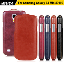 For Samsung Galaxy S4 Mini Case iMUCA Luxury Flip Leather Case Coque for Samsung Galaxy S4 Mini I9190 Phone Cases Back Cover