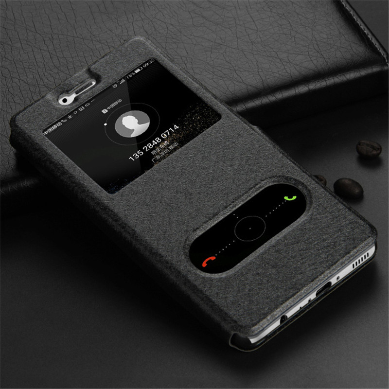 PU-Flip-Retro-Leather-Cases-For-Huawei-Honor-8-Case-Stand-Kickstand-Original-Window-View