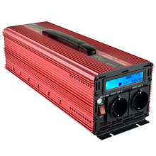 12v inverter 220v 2500W MAX 2800W (Peak 5000W) pure sine wave power inverter with LCD digital display(China)