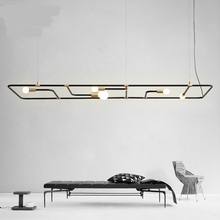 Creative modern minimalist bars restaurant coffee shops Nordic checkout tables rectangular dining tables Pendant Lights LO72015(China)