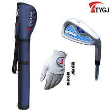 Brand TTYGJ. Single 7 IRON Regular Flex for beginner. 7iron golf club steel or carbon shaft. #7iron come with glove and bag(China)