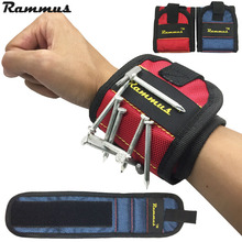 Rammus 13.8'' Wrist Support Strong Magnetic For Screw Nail Holder Wristband Band Tool Bracelet Belt Support Protection Kit DIY(China)
