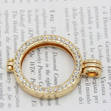 Gold Color Coin Bezel Fit 33mm Coin Charms Alloy Frame Pendant for My Coin Holder Pendant Necklace(China)
