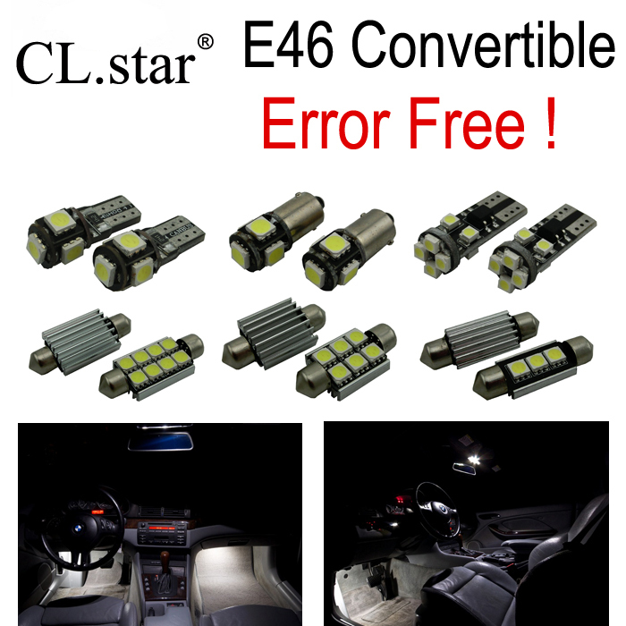 10pc x Canbus LED lamp interior light kit for bmw E46 Convertible (1999-2005)<br><br>Aliexpress