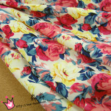 New Arrive Decorative Pattern Design Printing Floral Imitated Silk Chiffon Soft Dress Clothing Chiffon Fabric Sheer Textiles