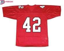 Embroidered Logo Kurt Hummel 42 William Mckinley High School RED American FOOTBALL JERSEY for fans gift cheap(China)