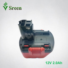 New 12V Ni-Cd 2000mAh Cordless Rechargeable Power Tool Battery Packs Replacement for Bosch BAT043 BAT045 BAT049 2 607 335 273(China)