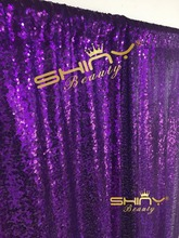 Hot Sale Christmas/Thanksgiving 4FT*7FT Purple Sequin Photobooth Backdrop for Weddings and Events Wedding Decoration