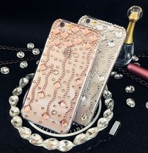 For Samsung Galaxy J2 2015 J200 Handmade Wave Rhinestone phone case Crystal cover New Style