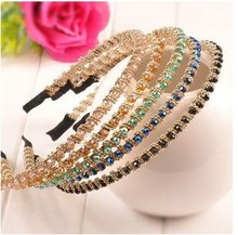 Crystal Fashional Modern Style Headband Hairbands for Girls Headwear Hair Accessories for Women(China)