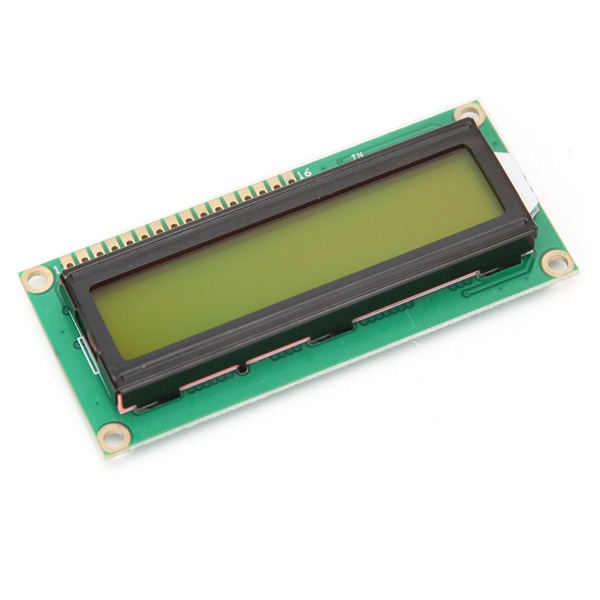 1Pcs Yellow Blacklight LCD1602 1602 Module Blue Screen Character LCD Dis play Module HD44780 Controller For Arduino(China)