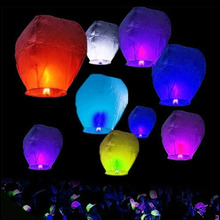 10 PCS Love Heart Sky Lanterns Wish Hole Lights Flying Lanterns Multicolor Paper Kongming Lantern Balloon Birthday Wedding Party