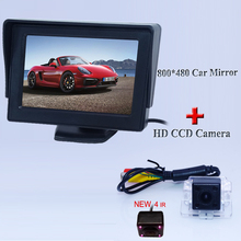 "Collocation set with car reversing  camera  170 degree +4.3"" car  screen monitor In-Dash for Mitsubishi Outlander"