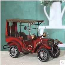 Vintage Miniatures European style restoring ancient ways metal tin auto wrought iron car model furnishing articles