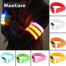 MaxKare LED Arm bands Lighting Armbands Leg Safety Bands for Cycling/Skating/Party/Shooting 5 Colors(China)