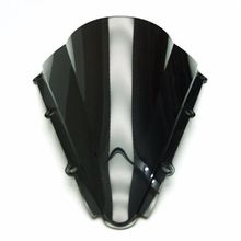 Smoke & Clear Motorcycle Windshield WindScreen For YZF R1 YZF-R1 2000-2001 Double Bubble ABS