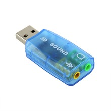 1 pcs 3D for Audio Card USB 1.1 Mic/Speaker Adapter Surround Sound 7.1 CH for Laptop notebook free shipping(China)